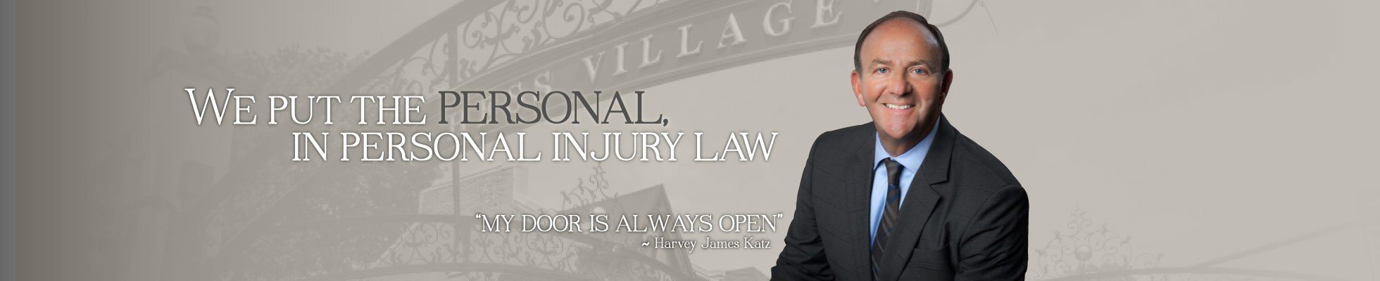 Harvey Katz Law Office homepage banner